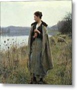 The Shepherdess Of Rolleboise Metal Print