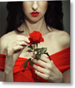 The Touch Metal Print