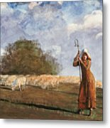 The Young Shepherdess Metal Print