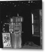 Theater Homage Snoozing Drunk Pilgrim Porn House Combat Zone Boston Massachusetts 1977-2008 Metal Print