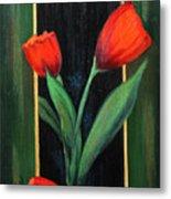 3 Tulips Metal Print
