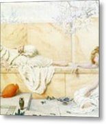 Two Classical Figures Reclining Henry Ryland Metal Print