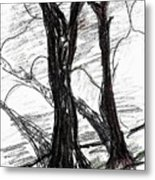 Two Tree Metal Print