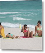 3 Up 1 Down At The Beach Metal Print