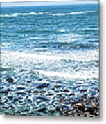 Usa California Pacific Ocean Coast Shoreline Metal Print