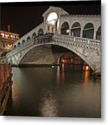 Venice By Night Metal Print by Joana Kruse