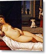 Venus Of Urbino Metal Print