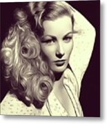 Veronica Lake, Vintage Actress Metal Print