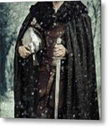 Viking Warrior With Sword Metal Print