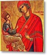 Virgin And Child Painting Art Metal Print