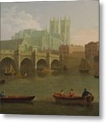 Westminster Abbey And Bridge Metal Print