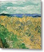 Wheat Field With Cornflowers Metal Print