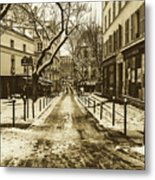 Winter In Paris Metal Print