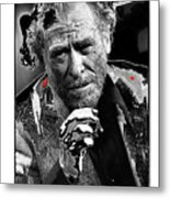 Writer Charles Bukowski On Tv Show Apostrophes September 1978-2013 Metal Print