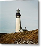 Yaquina Head Lighthouse - Toned By Texture Metal Print