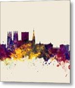 York England Skyline Metal Print