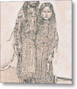 Young Comanche Girls Metal Print