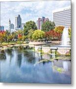Charlotte North Carolina Cityscape During Autumn Season Metal Print