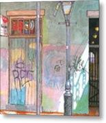 30  French Quarter Graffiti  Metal Print