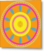 Mandala Ornament Metal Print