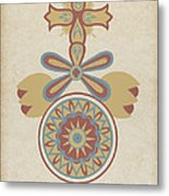 "Santa Barbara Mission Doorway Design From The Portfolio ""decorative Art Of Spanish California"" Metal Print"