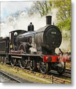 Steam Train At Rest. Metal Print