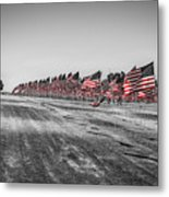 Pepperdine Flag Salute Metal Print