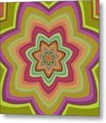 Psycho Hypno Floral Pattern Metal Print