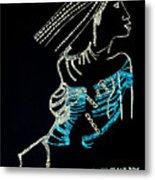 Dinka Lady - South Sudan Metal Print