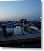 Racine Coastal Seascape - Michigan Lake In Wisconsin By Adam Asar Metal Print