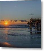 32nd Street Pier Avalon Nj - Sunrise Metal Print