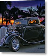 33 Ford On The Mexico Beach Metal Print