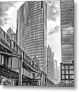 333 W Wacker Drive Black And White Metal Print