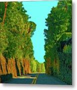 34- Enchanted Highway Metal Print