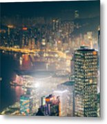 Hong Kong Victoria Harbour  Metal Print