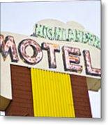 Route 66 Cars Cafes Restaurants Hotels Motels Metal Print