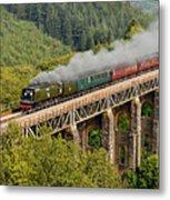 34067 Tangmere Crossing St Pinnock Viaduct. Metal Print
