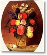 bs-flo- James Henry Wright- Flower Still Life James Henry Wright Metal Print