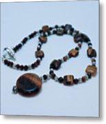 3516 Tiger Eye Necklace  Metal Print