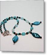 3564 Shell And Semi Precious Stone Necklace Metal Print