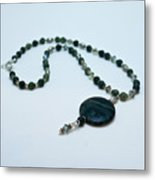 3577 Kambaba And Green Lace Jasper Necklace Metal Print