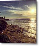 Sunset On La Jolla Beach, California, Usa  Metal Print