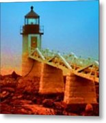3600001  Maine Lighthouse Metal Print
