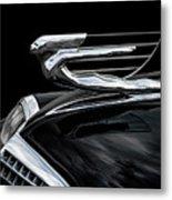 37 Cadillac Hood Angel Metal Print