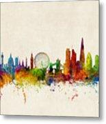London England Skyline Metal Print