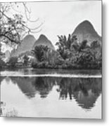 Yulong River Scenery Metal Print