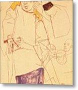 38027 Egon Schiele Metal Print
