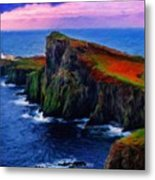 Original Landscape Paintings Metal Print