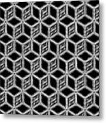 3d Blackstep Metal Print