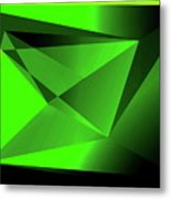 3d-greenpyramids Metal Print